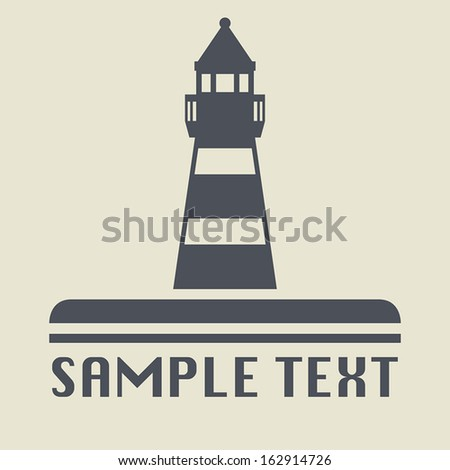 Lighthouse icon or sign, vector illustration - stock vector