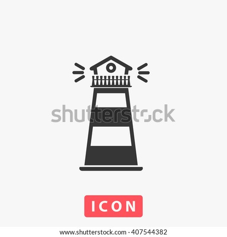 lighthouse Icon Vector. lighthouse Icon Art. lighthouse Icon Picture. lighthouse Icon Image. lighthouse Icon logo. lighthouse Icon Sign. lighthouse Icon Flat. lighthouse Icon design. lighthouse app - stock vector