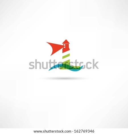 lighthouse icons - stock vector