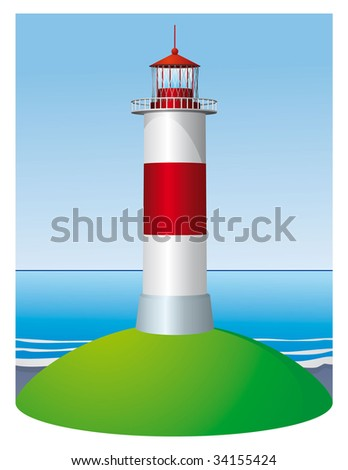 Lighthouse in the daytime by the seaside