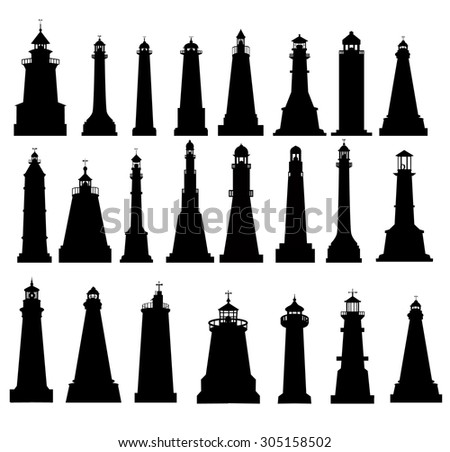 Lighthouse Silhouette Set