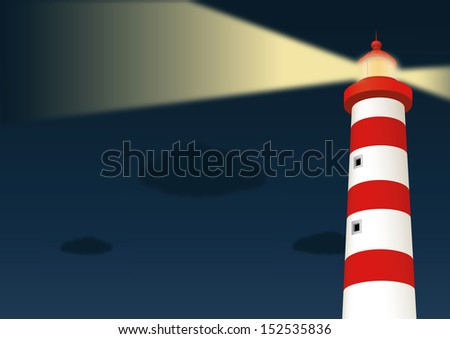 Lighthouse. Vector illustration - stock vector