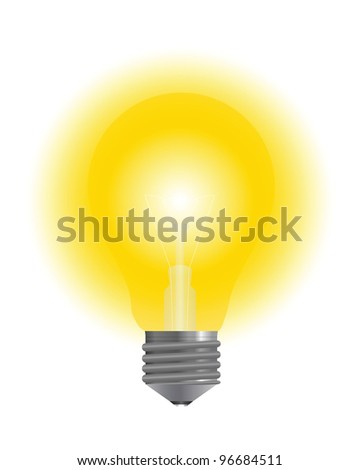 Lighting lamp - stock vector