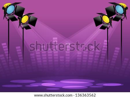 Lighting stage - stock vector