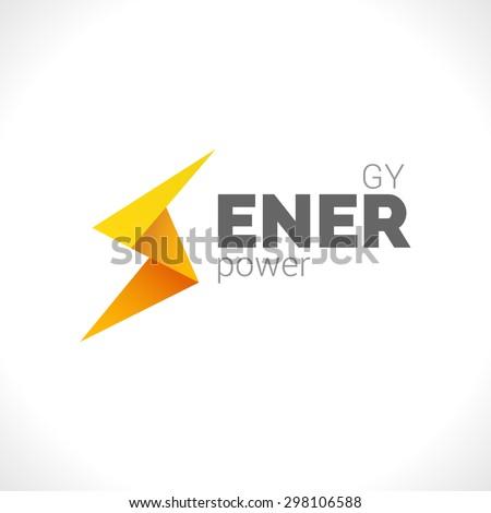 Lighting Yellow Bolt Flash Logo Design Vector Element Fast Quick Power Rapid Icon Concept