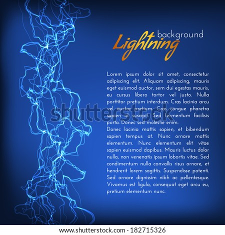 Lightning background with space for text. Vector eps10 - stock vector