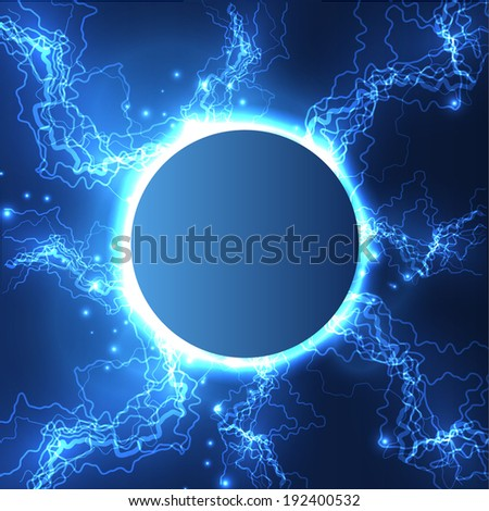 Lightning ball vector background. Eps10 - stock vector