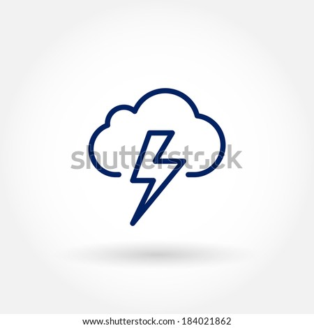 Lightning bolt icon. Modern line icon design. Modern icons for mobile or web interface.  - stock vector