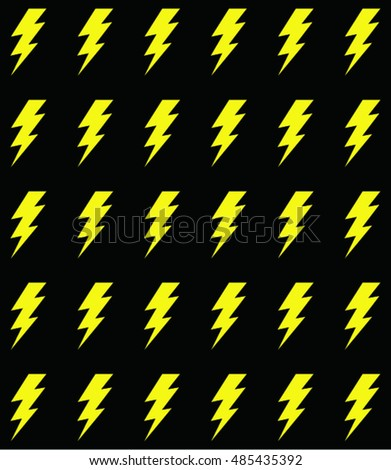 lightning bolt pattern. Vector illustration  sc 1 st  Shutterstock & Lightning Bolt Vector Icon Stock Vector 485453311 - Shutterstock azcodes.com