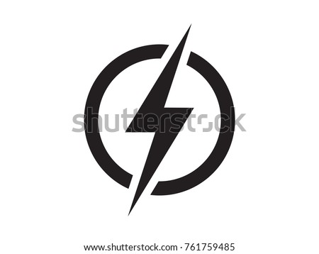 Lightning Electric Power Vector Logo Design Stock Vector Royalty