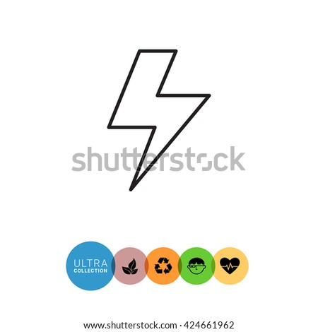 Lightning Icon. - stock vector