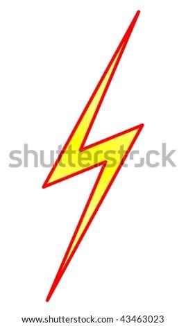 Lightning Symbol - stock vector