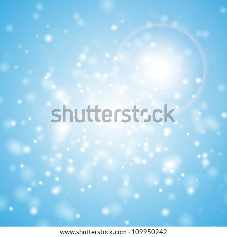 Lights blue background - stock vector