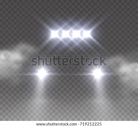Lights Led Off Road Effect Front Stock Vector 719212225