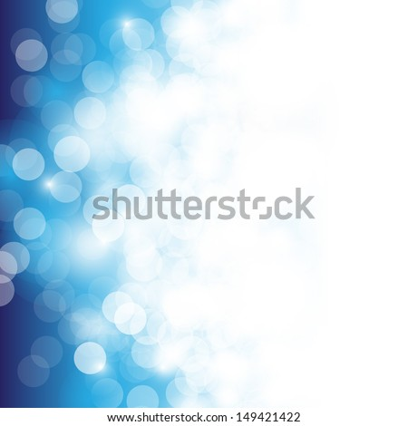 Lights On Blue Background - Vector Illustration, Graphic Design Useful For Your Design. Bright Blue Abstract Summer Background - stock vector