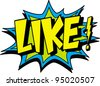 like - stock vector