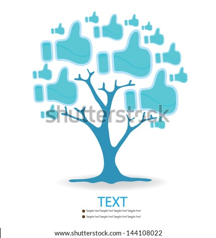 Like button. Tree design. vector illustration. - stock vector