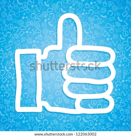 like icon over blue background. vector illustration - stock vector