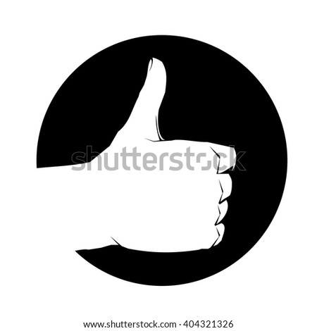 Like icon vector gesture hand jpg thumb finger logo circle black white up