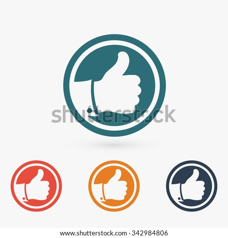 LIKE icon, vector illustration. Flat design style   - stock vector