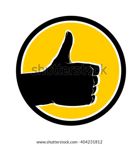 Like icon vector Like icon illustration Like icon gesture Like icon hand Like icon yellow Like icon thumb Like icon finger Like icon logo Like icon circle Like icon black Like icon white Like icon up - stock vector