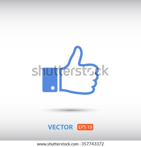 like icon vector, symbol like, sign like vector, up like icon ve - stock vector