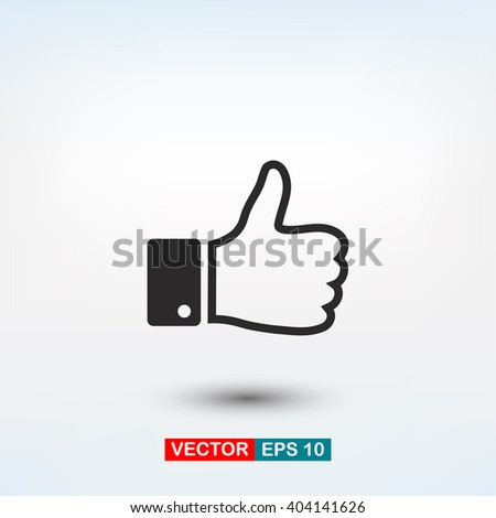like icon vector, symbol like, sign like vector, up like icon ve