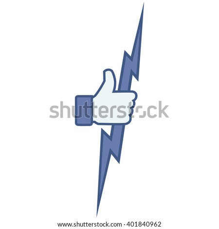 Like/Thumbs up/Lightning in the hand. Like Icon. Like Icon Vector. Like Icon JPEG. Like Icon Object. Like Icon Picture. Like Icon Image. Like Icon Graphic. Like Icon Art. Like Icon JPG. Like Icon EPS - stock vector