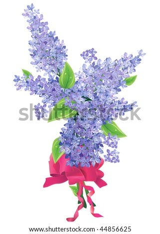 Lilac bunch - stock vector
