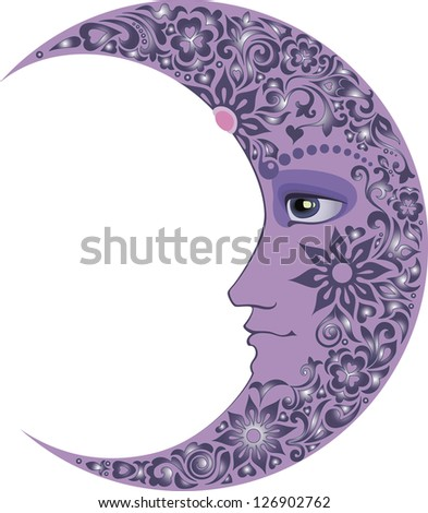 lilac Crescent - stock vector