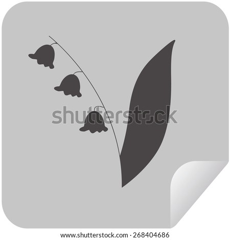 Lily of the valley. Vector illustration - stock vector