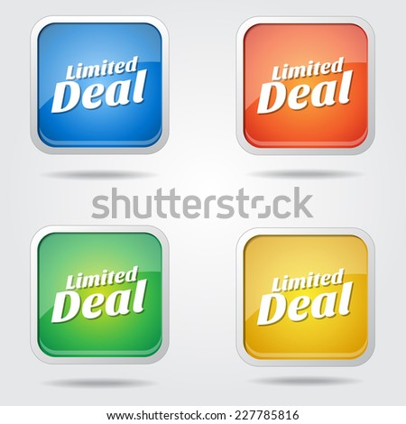 Limited Deals Colorful Vector Icon Design