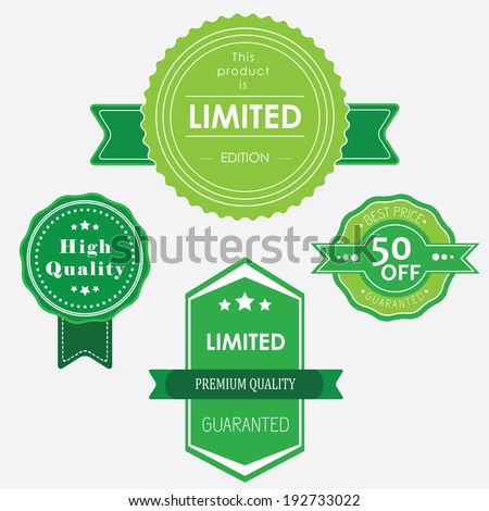 Limited edition and discounts green
