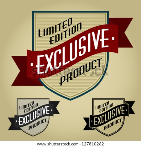 Limited Edition / Exclusive Product Retro Seal - stock vector
