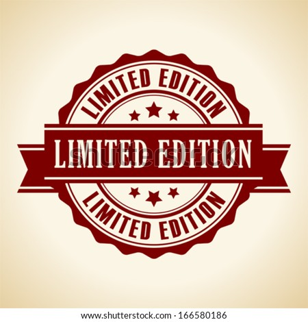 Limited edition icon - stock vector