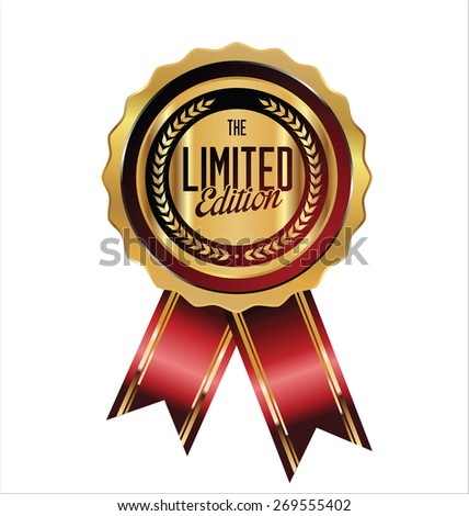 Limited edition label - stock vector