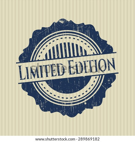 Limited Edition rubber grunge seal - stock vector