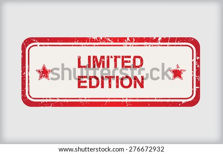Limited edition rubber stamp.Grunge limited edition stamp.Vector illustration. - stock vector