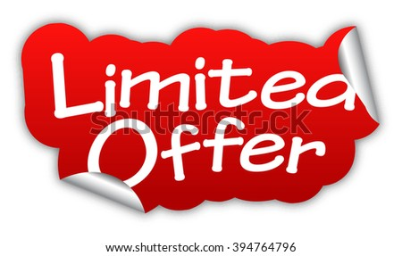 limited offer, red vector limited offer, red sticker limited offer, paper sticker limited offer, element limited offer, sign limited offer, design limited offer, picture limited offer - stock vector