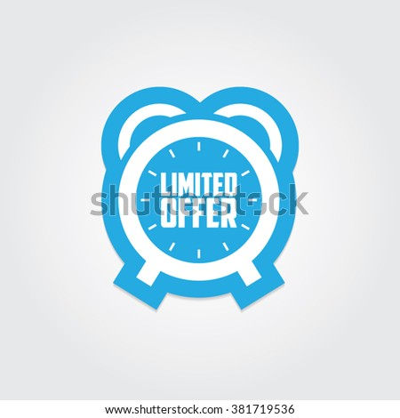 Limited Offer Sticker - stock vector