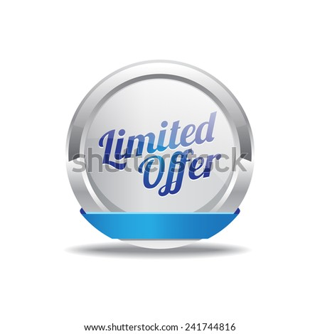Limited Time Offer Blue Vector Icon Button