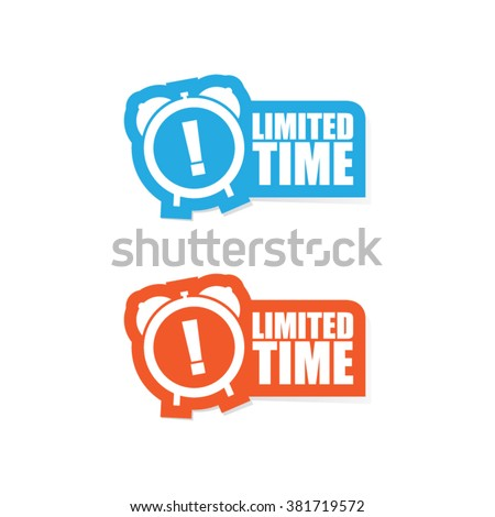 Limited Time Sticker Label - stock vector
