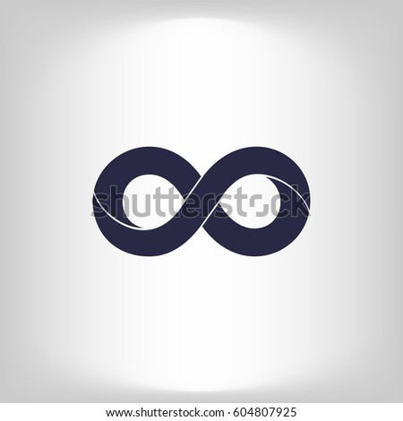 Limitless Sign Icon Infinity Symbol Isolated Stock Vector Royalty