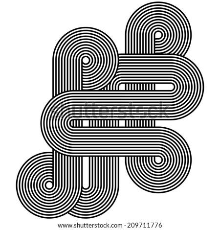 Line Art Design - stock vector