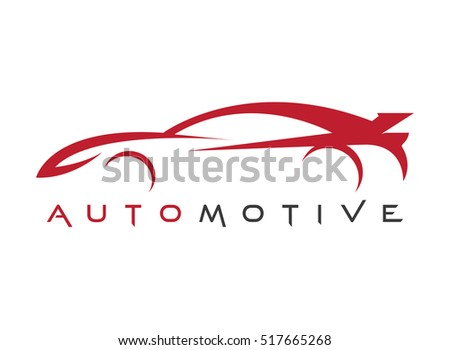 line art red sports car automotive stock vector royalty free