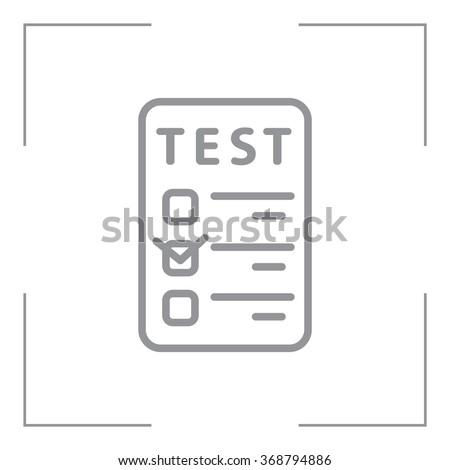 line checkmark icon - stock vector