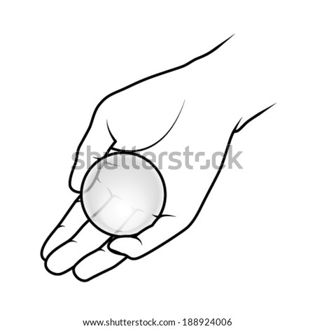 how to draw hands holding a ball