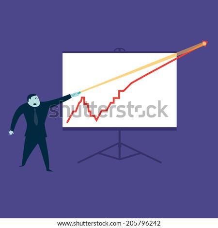 Line Graph - stock vector
