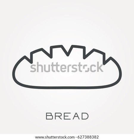 Line icon bread