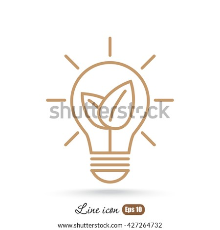 Line icon- eco energy concept - stock vector